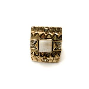 House of Harlow Cushion Square Ring in Moonstone